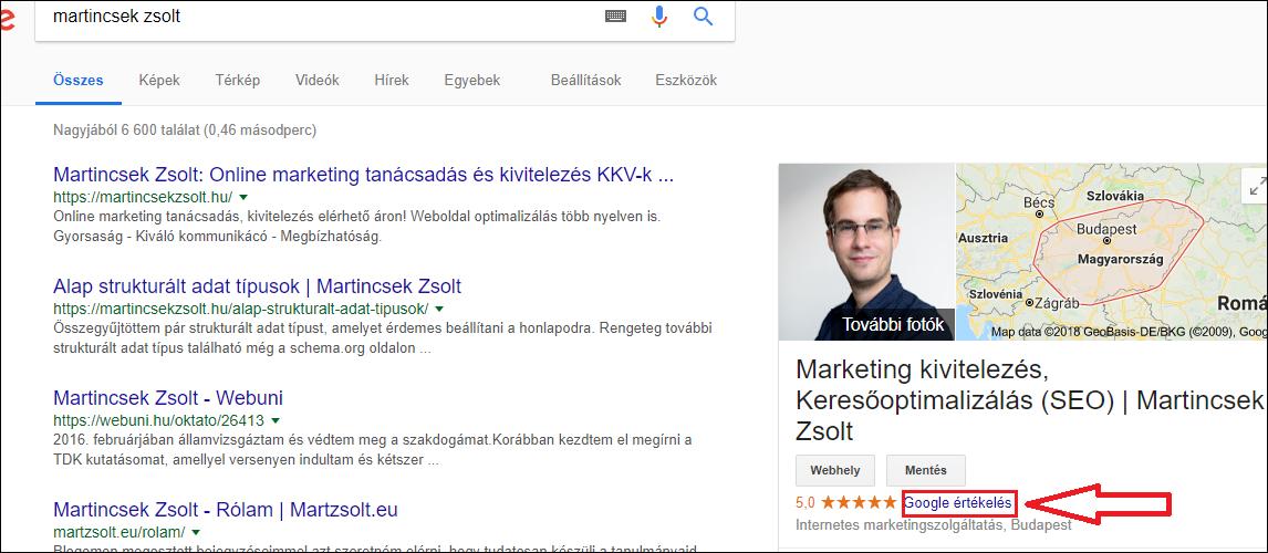 lokál seo útmutató, google cégem profil